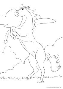 Ausmalbild Pferd Nr. 2