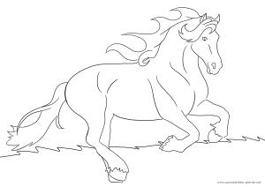 Ausmalbild mit Pferd Nr. 8