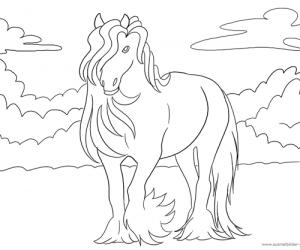 Pferdebild zum Ausmalen