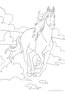 ein weiteres ausmalbild mit pferd | ausmalbilder pferde