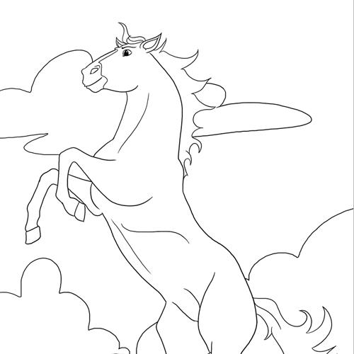 Pferde-Ausmalbild Nr. 2