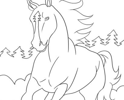 Springend Paard Kleurplaat Ausmalbilder Mit Pferden Kostenlos