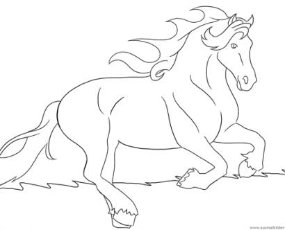 ausmalbilder mit pferden - kostenlos
