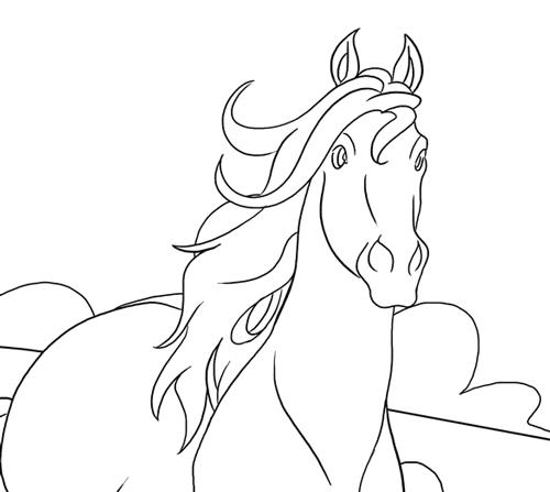 Ausmalbilder mit pferden kostenlos ausmalbild pferd altavistaventures Choice Image