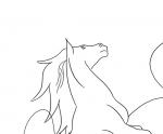 Ausmalbild Pferd Nr. 13